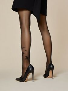 d44c43d5ef Fiore Rondini Swallow Bird Patterned Sheer to Waist Tights 20 Denier ...