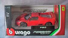B BURAGO1/43 FERRARI F50 RACE & PLAY RED COLOR NEW RARE IN HAND