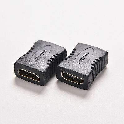 Black Mini HDMI Female to Female F F Coupler Extender Adapter Connector HDTV New