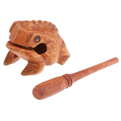 Holz Frosch Statue Kreative Kinder Kinder Musical Spielzeug Home Office