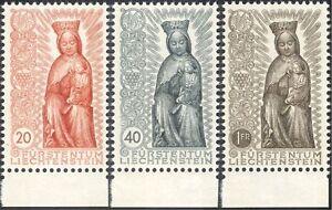 Liechtenstein 1954 Marian Year/Madonna/Child/Statue/Religion 3v set (n44236)