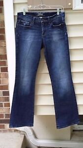 WOMENS LUCKY BRAND STARK SWEET N LOW BLUE JEANS PANTS 16 34 X 31 HIGH END FLARE