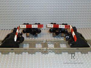 LEGO-Eisenbahn-4-Prellboecke-Prellbock-schwarz-mit-Puffer-Magnet-9V-4-5V-12V