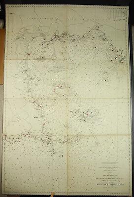 Vervoering Carte Ancienne 1838 De L'Île De Bréhat à Barfleur Bretagne Manche Côte D'armor