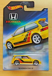 1990 Honda Civic EF Yellow 2018 Hot Wheels 70th Anniversary 2//8