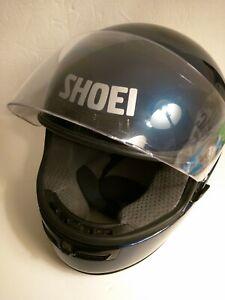 SHOEI-DARK-BLUE-NAVY-RF-700-Elite-Series-Full-Face-Motor-Cycle-Helmet-SMALL