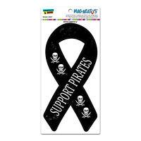 Pirates Skull Swords Support Ribbon - Funny - Mag-neato's™ Car Vinyl Magnet