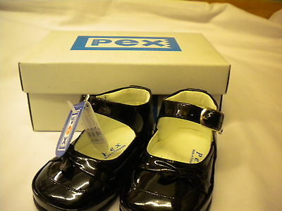 PEX BABY GIRLS BLACK OR RED PATENT LEATHER SHOES SIZE 2-5