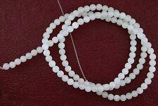 3mm Round Snow Quartz Gem Stone Gemstone Beads 15 Inch Strand