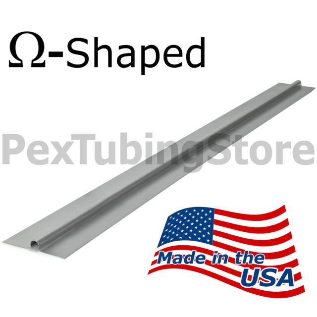 "(50) 4ft long Radiant Heat Transfer Plates for 1/2"" PEX, Aluminum, Made in USA"