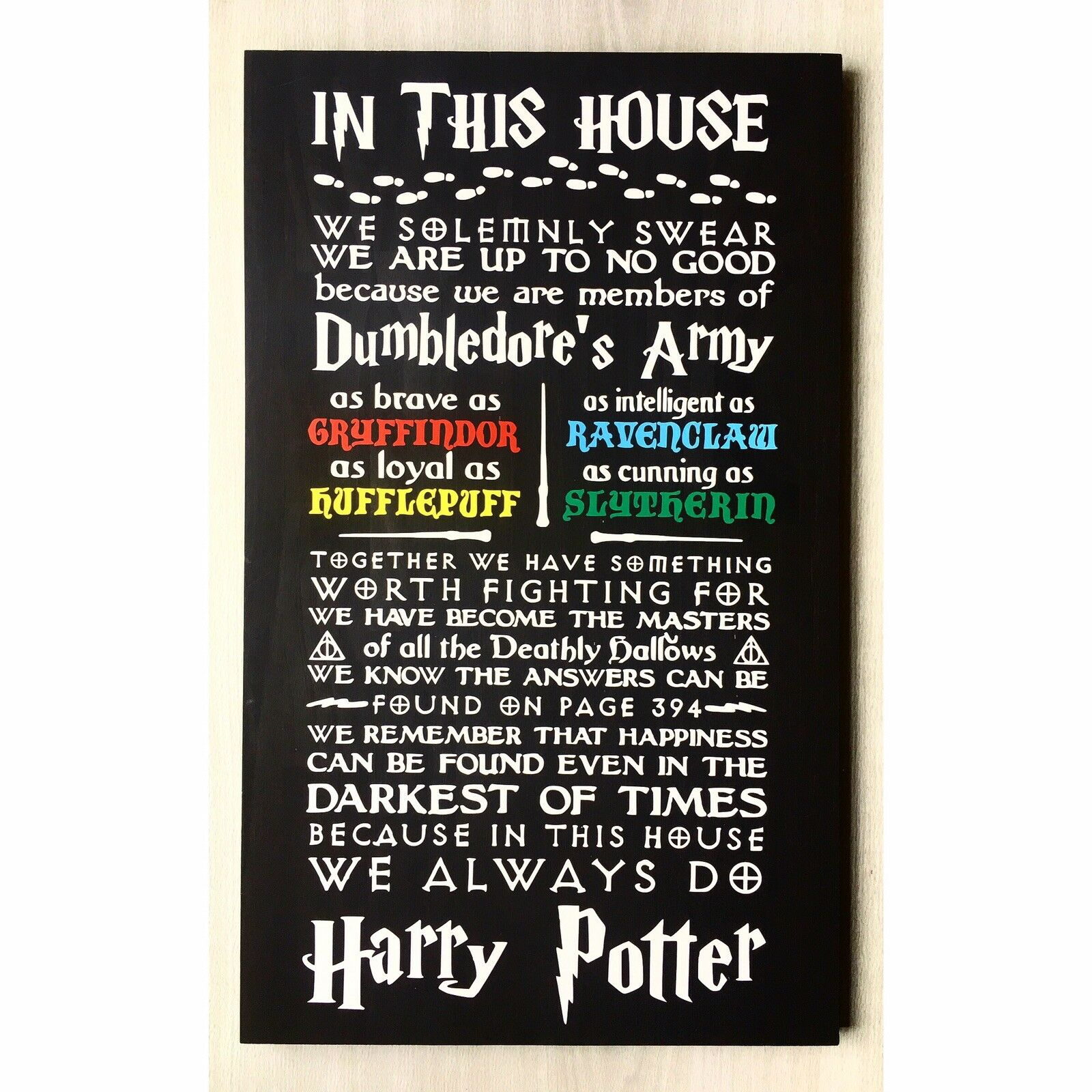 In This House We Do Harry Potter   Harry Potter Sign   Harry Potter Wall Decor