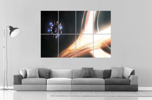INTERSTELLAR STATION ESPACE GALAXIE Wall Art Poster Grand format A0 Large Print