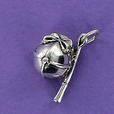 Riding Hat and Crop Charm Sterling Silver for Bracelet Equestrian Dressage Horse
