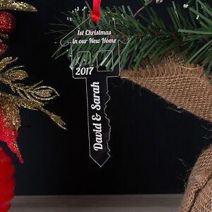 Personalised-primo-1st-Natale-nel-nostro-la-tua-nuova-casa-Chiave-Albero-Decorazione