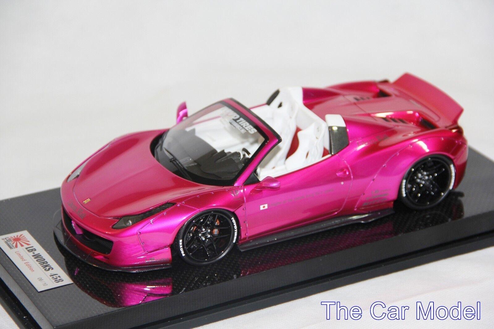 Ferrari 458 Spider LB Works Performance Flash Pink, Carbon Base - 10 pcs LB 1 18