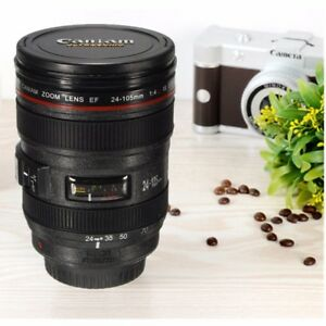 480ML Camera Lens Cup Coffee Mug Multi Purpose Ashtray Pen Holder Birth Gift
