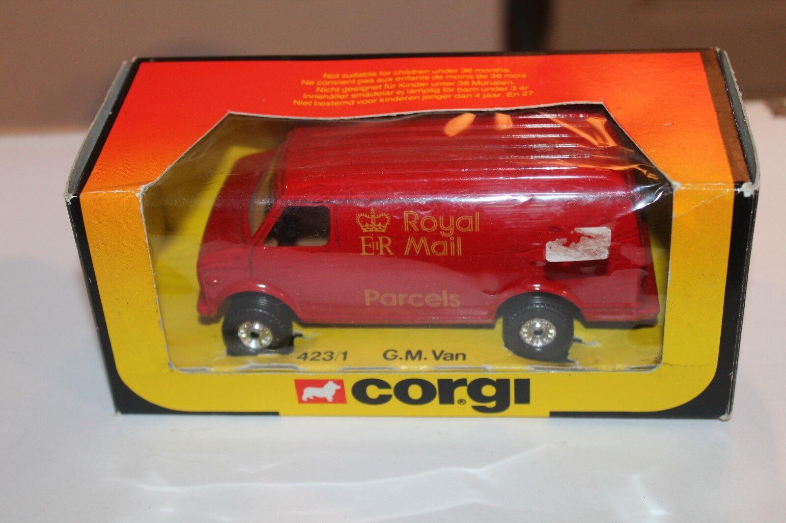 CORGI TOYS 423  GM VAN  ROYAL MAIL  OVP  1 36