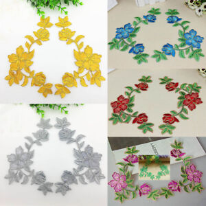 6PCS-Embroidered-Art-Flower-Motif-Patches-Decal-Iron-Or-Sew-Appliques-21cmX11cm