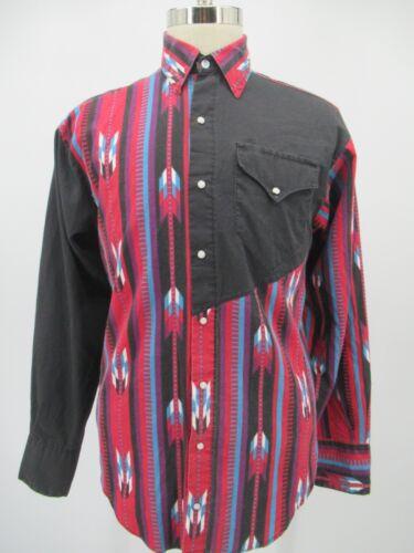 Vtg Rodeo shirt southwesterngeometric pattern SM