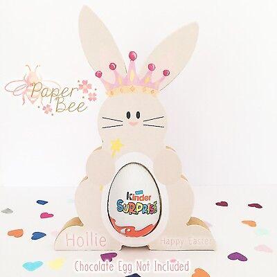 Personalised Princess Easter Bunny Rabbit Kinder Creme Cream Egg Holder Gift
