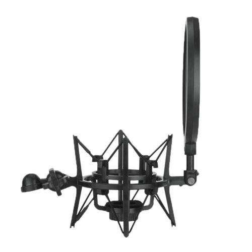 Universal Mikrofon Shock Mount Mikrofonhalter Halterung mit Popschutz für