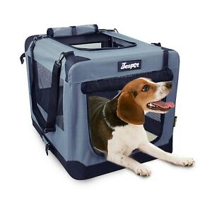 Jespet-Soft-Dog-Crates-Kennel-for-Pets-3-Door-Indoor-Outdoor-Portable-Crate
