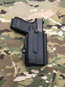 Black Kydex Paddle Holster for Glock 19 23 Inforce APLc
