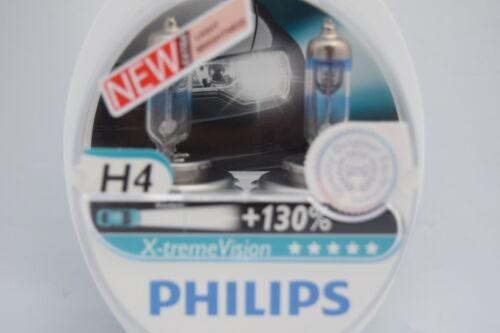 AUDI A4 B5 PHILIPS SET OF 2  X-TREME VISION H4 HEADLIGHT BULBS ORIGINAL 130/%