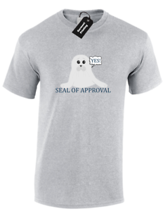 Details about SEAL OF APPROVAL MENS T-SHIRT FUNNY JOKE ANIMAL LOVER DESIGN  CUTE CARTOON (COL)