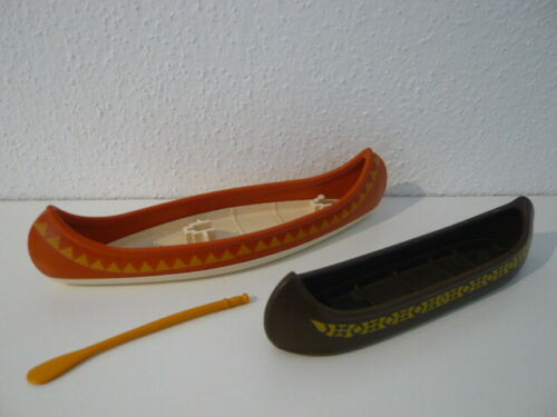 Playmobil Kanu Boot Paddel Indianer Trapper Apachen Western 3875 3733 3397