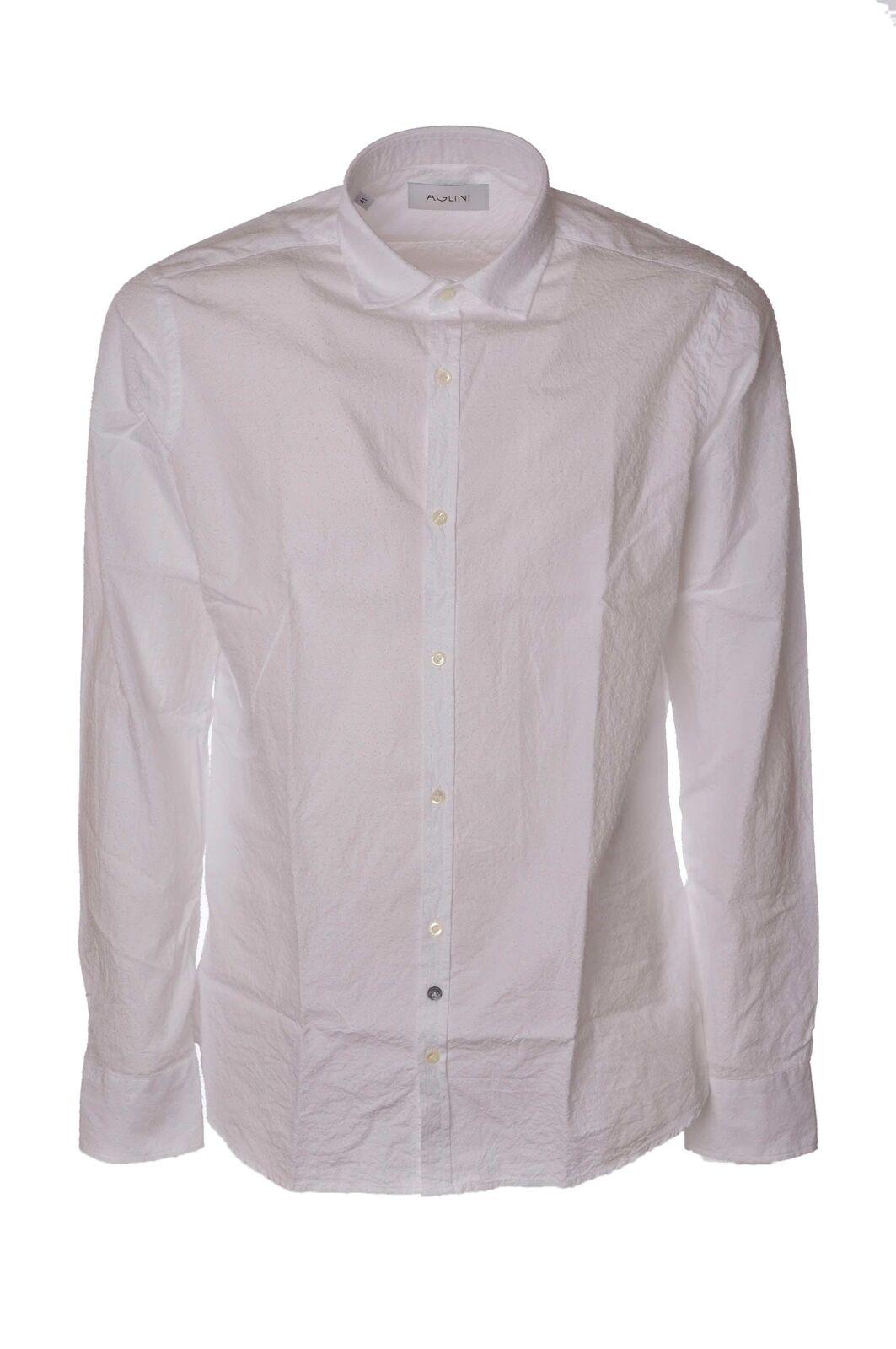 Aglini - Shirts-Shirt - Man - White - 4064230F184016