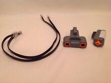 Lego Mindstorm Robotics NXT Ultrasonic & Touch Sensor Lot w/ Wire Connectors!