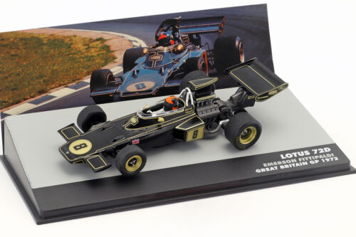 Emerson fittipaldi Lotus 72d #8 winner gran bretaña gp fórmula 1 1972 1:43 Alt