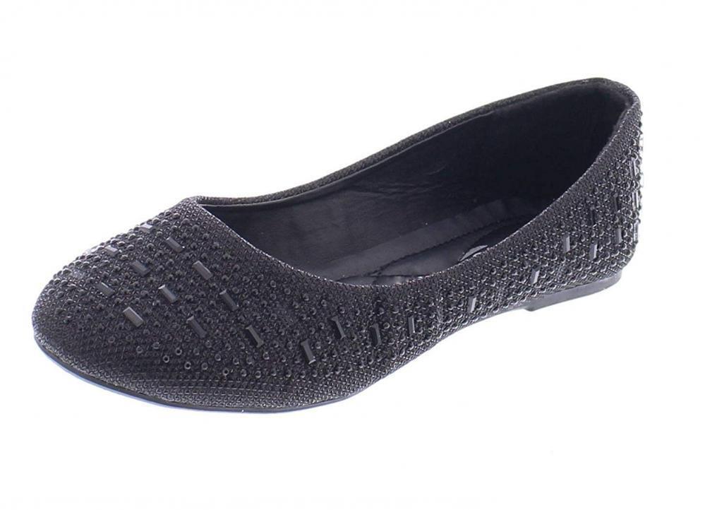 gold Toe Karma Womens Sparkle Dress shoes,Cute Rhinestone Ballet Flats...