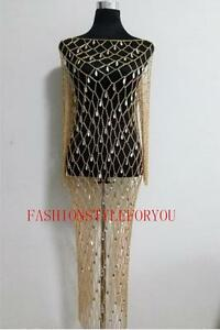 Fashion-Style-B228-Women-Gold-Chains-Plastic-Beads-Dressing-Body-Chains-Jewelry