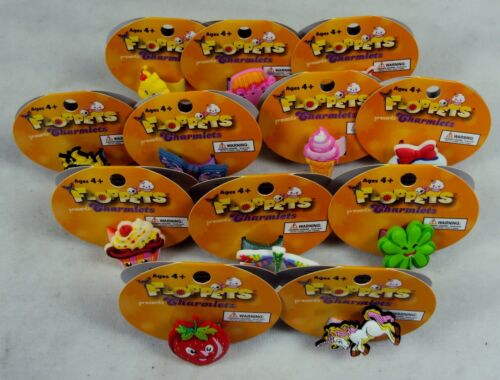 Set of 12 ~ Connectable Wearable Stickable Floppets Charm Rings Collectible