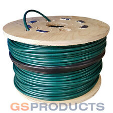 100 meters of 3mm - 4mm GREEN PVC Covered Galvanised Steel Wire Rope Cable 1x12