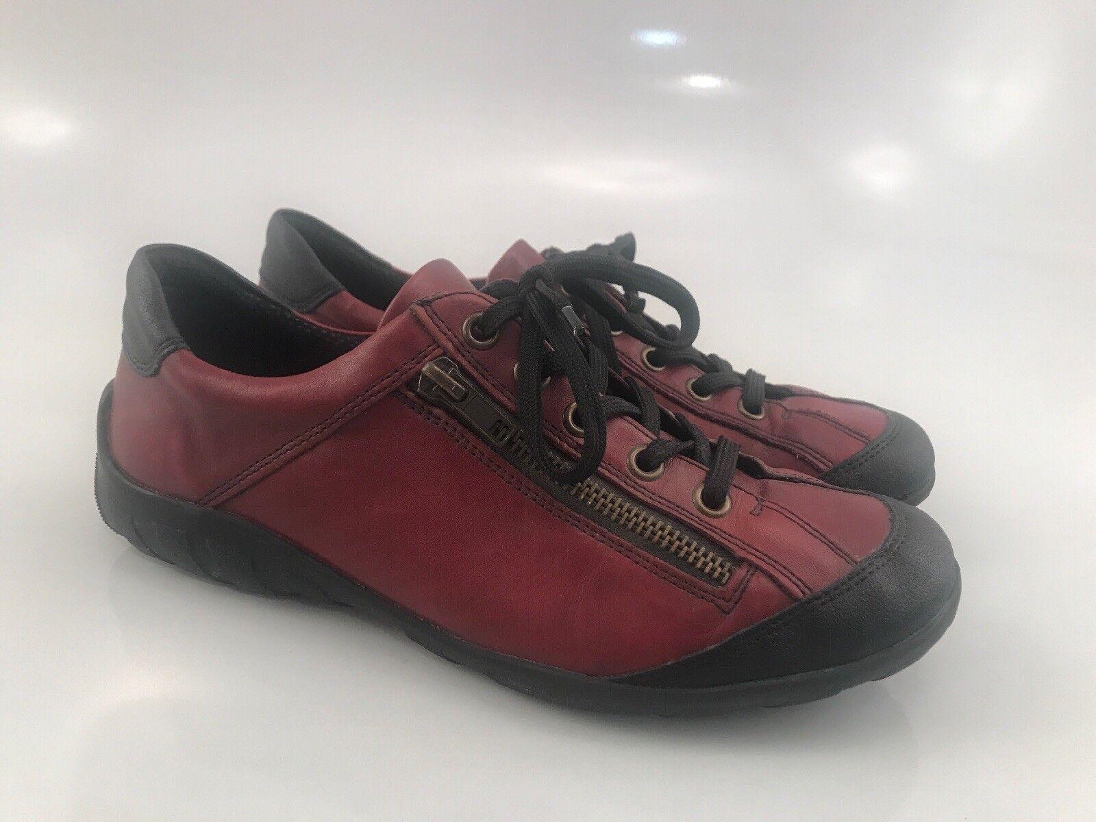 Remonte Corbata De Cuero Rojo Ladrillo Zapatillas Zapatos de de de moda comodidad para mujer 38 EU 7.5 nos  comprar descuentos