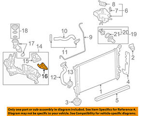 diagram for 2006 chevy uplander engine chevrolet gm oem 06 08 uplander radiator cross over pipe gasket  chevrolet gm oem 06 08 uplander