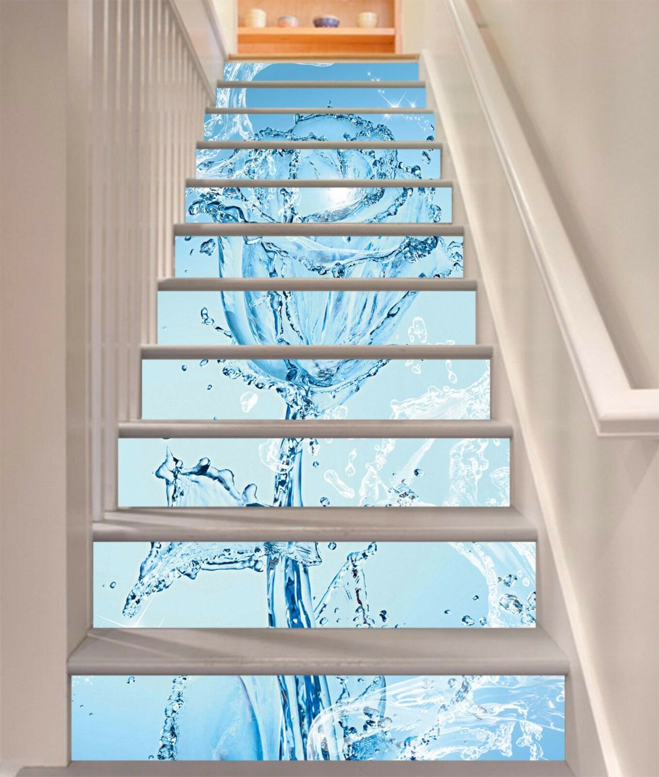 3D Water Rose 51 Stair Risers Decoration Photo Mural Vinyl Decal Wallpaper AU