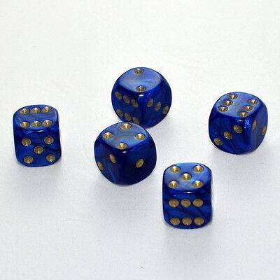 Augen Würfel Spielwürfel von Frobis 100 Stück 16mm Perlmutt Blau Knobel Würfel