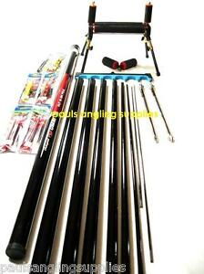 Shakespeare-Take-Apart-Fishing-Pole-ELASTIC-FITTED-4-Leg-Roller-Rigs-Roost