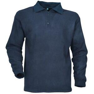 Chemise-f1-en-fibres-polaire-bleue-NEUVE-taille-L-sous-pull-polo-manches-longues