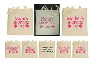 Image is loading Foldable-Reusable-Bag-Personalised-Tote-Shopping-Cotton- Canvas- ab75a04953c