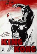 Original vintage poster KING KONG FILM NEW YORK 1933 SENSATIONAL !