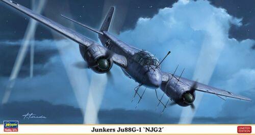Hasegawa 1//72 Luftwaffe Junkers Ju88G-1 NJG2 Model kit 02358 JAPAN