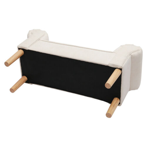 Fabric Bench Bed End Seat Chair Bedroom Lounge Pouffe Ottoman Stool Wooden Legs