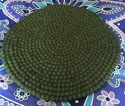 Green Coloured Wool Felted