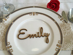 personalized wooden wedding place cards laser cut name tags wedding