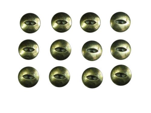 12 Knöpfe 15 mm altsilber Antikoptik Zweiloch